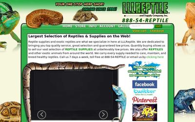 Lllreptile.com website