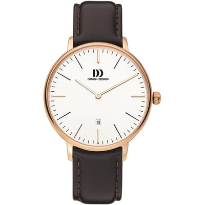 Danish Design IQ17Q1175 horloge heren bruin 5