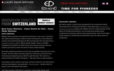 Edmond Watches website