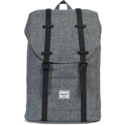 Herschel Retreat Scattered Raven Rubber