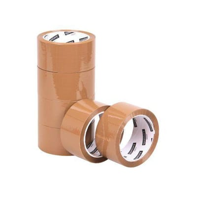 Verpakkingstape Quantore 50mmx60m PP no noise bruin