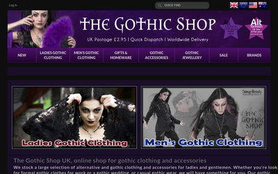The-gothic-shop.co.uk website