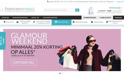 Parfumswinkel.nl website