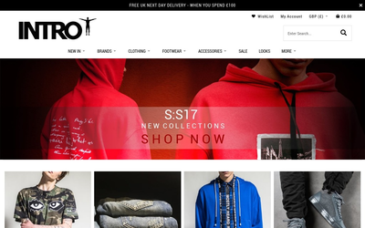 Intro Clothing website