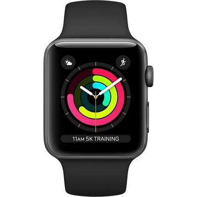 Apple Watch Series 3 42mm Aluminium Zwart Sportband Space