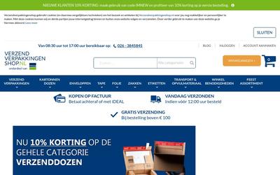 Verzendverpakkingenshop website
