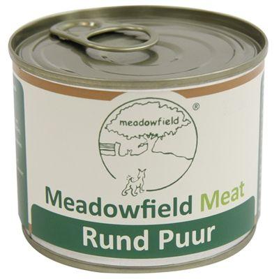 Meadowfield meat blik rund puur 200 gr