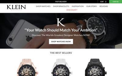 Klein Watches website