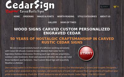 Cedarsign.com website