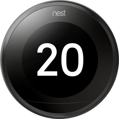 Nest Learning Thermostat Zwart