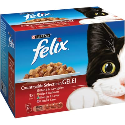 FELIX Pouch Vlees 12 x 100 g