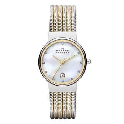 Skagen 355SSGS Horloge Staal Bicolor en 3