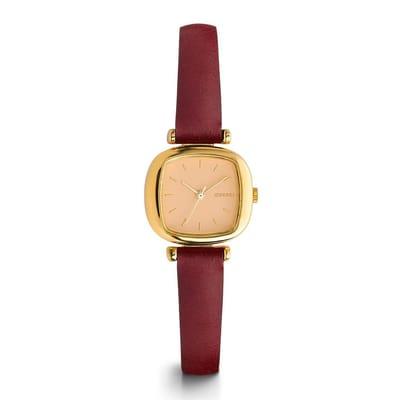 Komono Moneypenny Gold Peach Horloge Rood 3