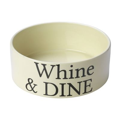 House of paws voerbak hond whine dine creme