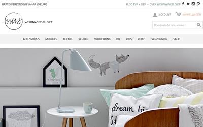 Woonwinkel Siep website