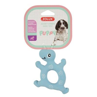Puppyspeelgoed latex schildpad blauw