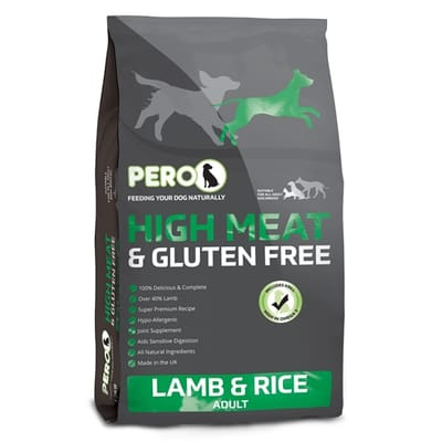 Pero high meat gluten free lamb rice adult