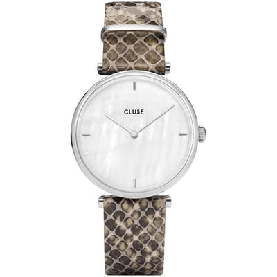 CLUSE CL61009 Horloge Triomphe Silver White Pearl