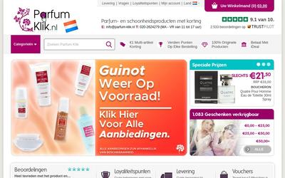 Parfum-Klik website