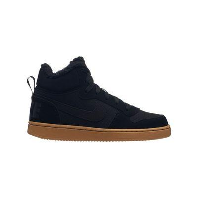 Nike Court Borough Mid Winter sneakers Jongens Zwart