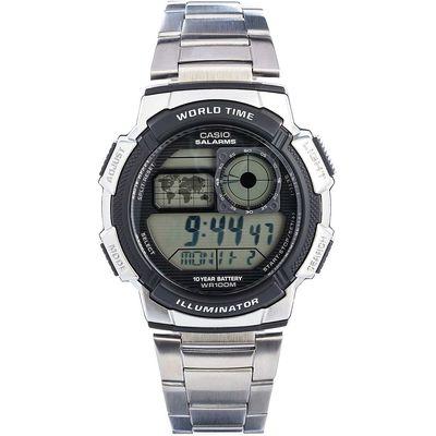 Casio Horloge mm Staal zilver 10