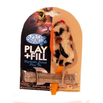 Petbrands speelmuis met catnip hervulbaar