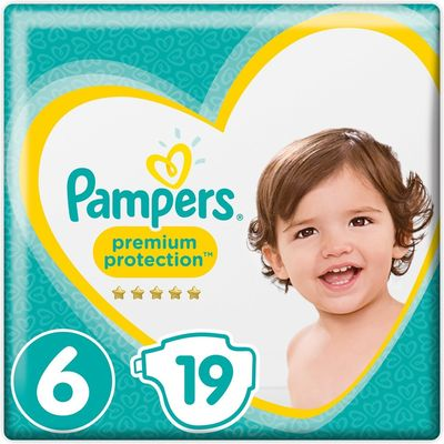 Pampers Premium Protection Maat 6 kg 19 Luiers X Large