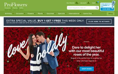 Proflowers.com website