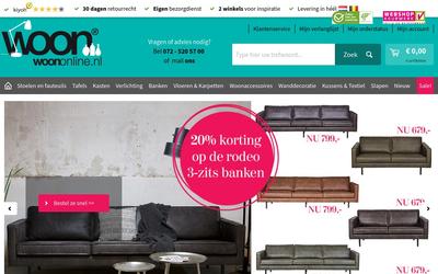 Woon Online website