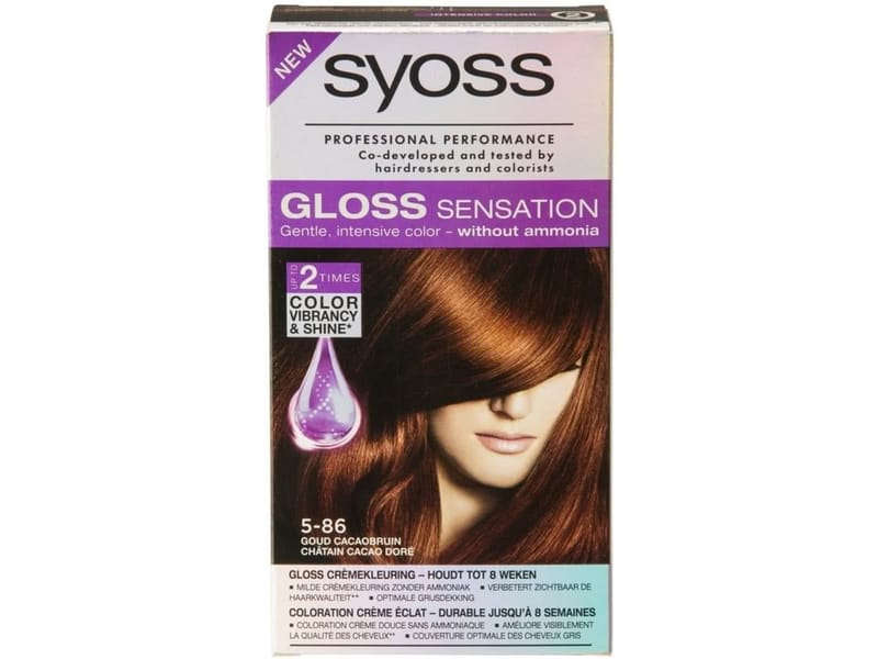 Syoss Gloss Sensation Haarverf 5-86 Nougat Bruin