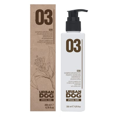 Urban dog shampoo voor vettige rode huid en jeuk