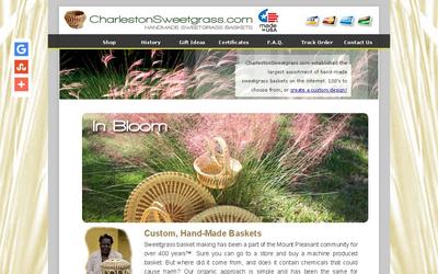 Charlestonsweetgrass.com website