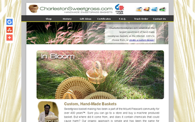 Charlestonsweetgrass.com website