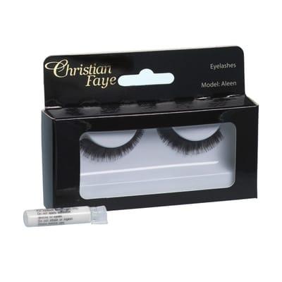 Christian Faye Eyelashes Aleen With Glue