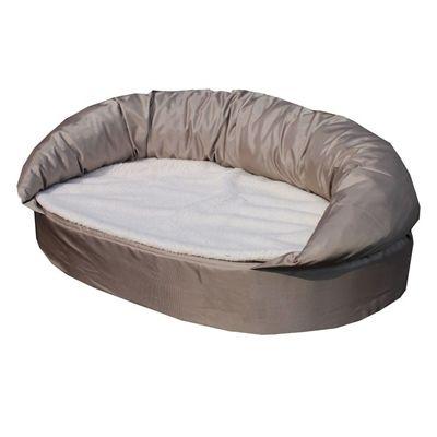 Petcomfort hondenmand taupe / wit