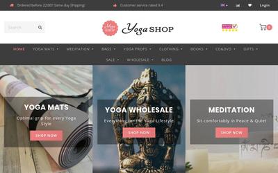 Yogashop.nl website