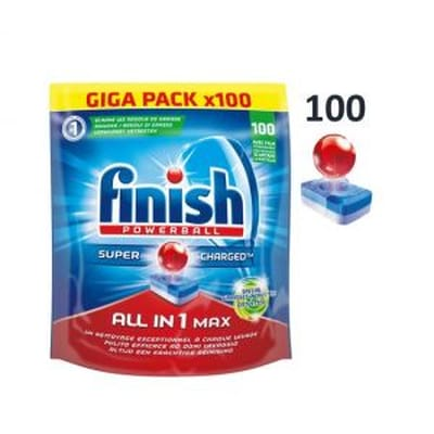 Finish All in 1 Max Grease Fighter Kwartaal Pak 100 stuks
