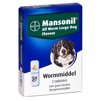 Mansonil grote hond all worm tabletten