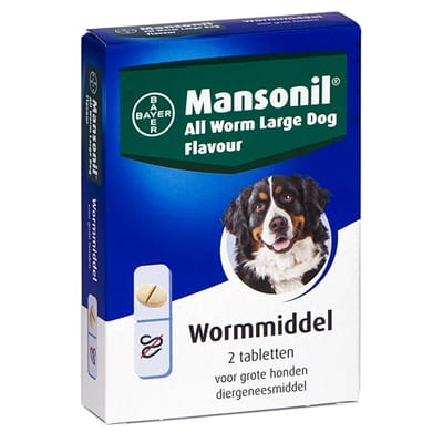 Mansonil grote hond all worm tabletten