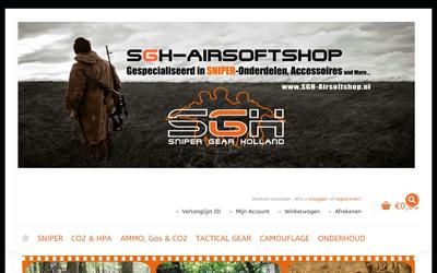 SGH Airsoftshop website