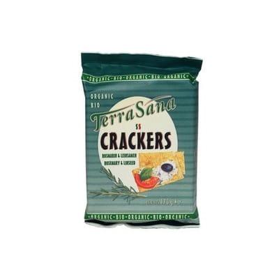 Terrasana Crackers Lijnzaad Rozemarijn