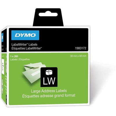 DYMO LW 89 mm x 36 1 260 Etiket