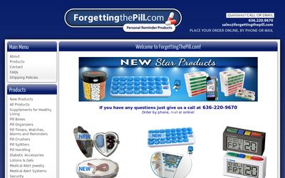 Forgettingthepill.com website