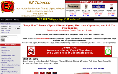 Eztobacco.com website