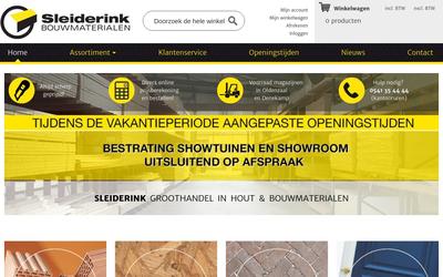 Sleiderink Bouwmaterialen website