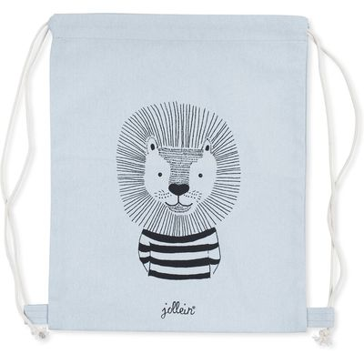 Jollein Wild animals Rugtasje canvas soft blue
