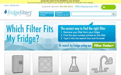 Fridgefilters.com website