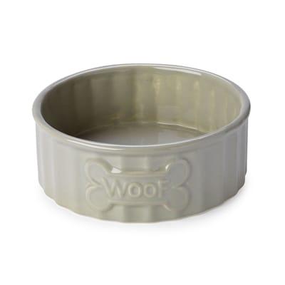 House of paws voerbak hond woof bot beige