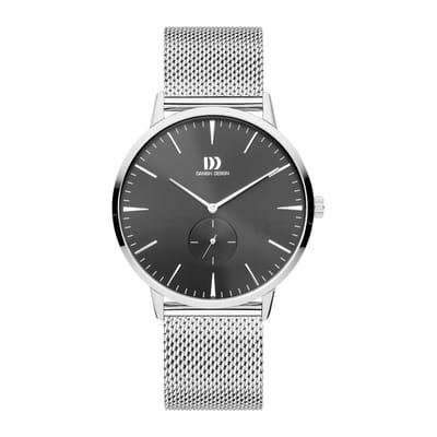 Danish Design IQ63Q1250 horloge heren zilver edelstaal PVD grijs