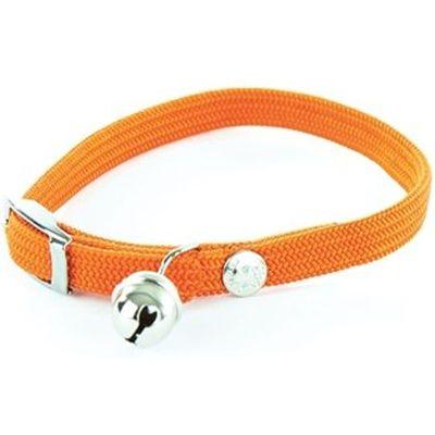 Martin Sellier Halsband kat elastisch nylon oranje 30 X 1 CM